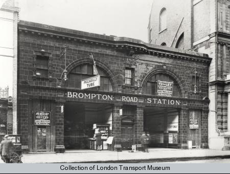 Brompton Road station in 1906