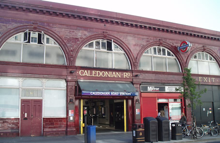 Caledonian Road station entrance
