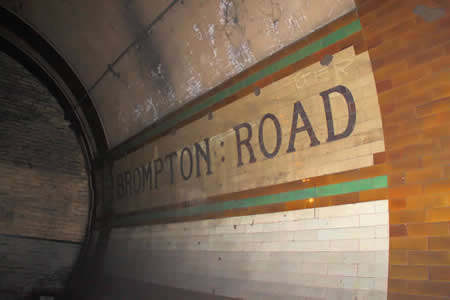 Brompton Road - 2011 underground journey