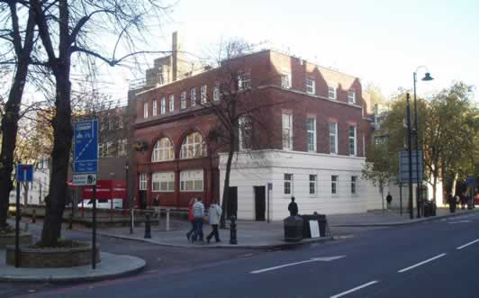 The Brompton Road station site today